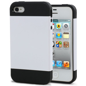 Luxury-Dual-Layer-Hybrid-TPU-PC-Durable-Tough-Slim-Back-Cover-For-Apple-iPhone-4-4G